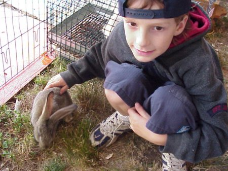 Michael with Brown Bunny