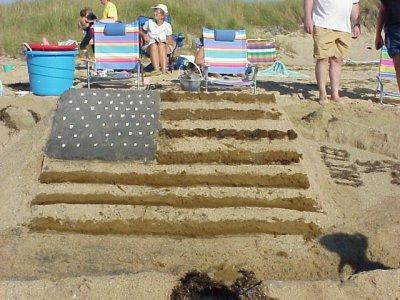 sand castle flag